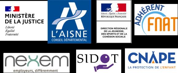 Logos des partenaires de l'ADSEA02
